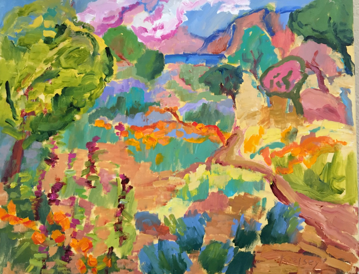 Flower Garden 16 x 20 acrylic on linen
