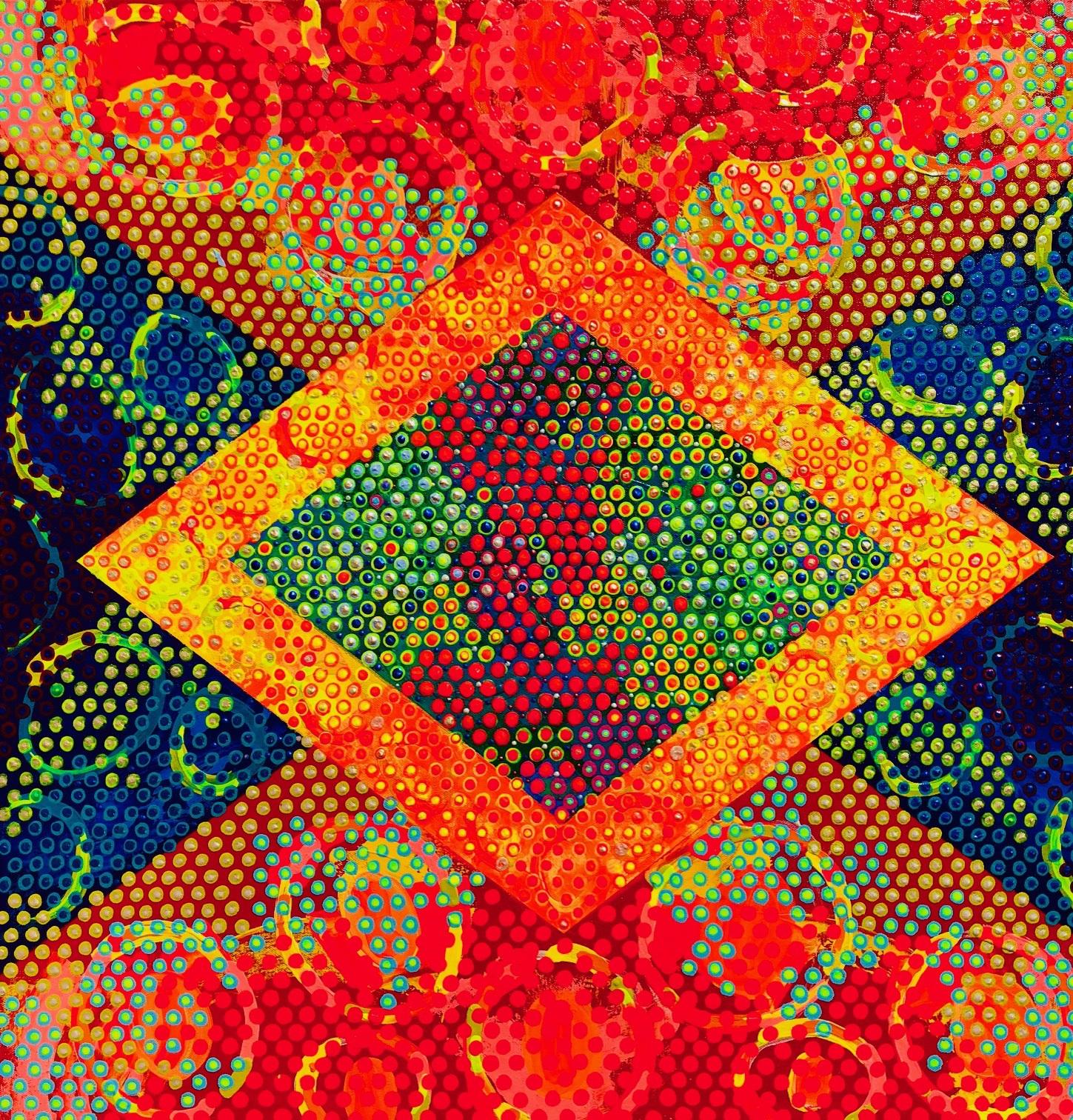 "Equipoise Summer 7, acrylic on canvas, 30"" x 30"""