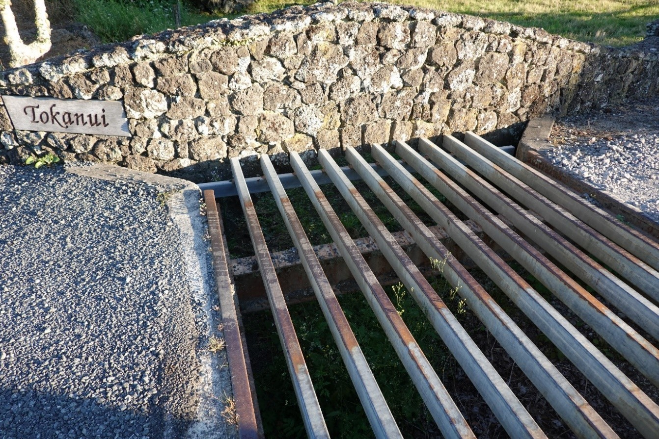 And sure enough, it is just a very elegantly disguised cattle grid.
