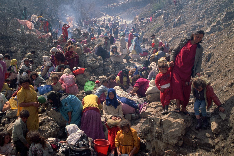 "Kurdish refugees. Gulf War. Turkey, 1991.<span class=""photo-essays-link""><span class=""separator"">・</span><a href=""/photo-essays"">Photo-essays</a></span>"
