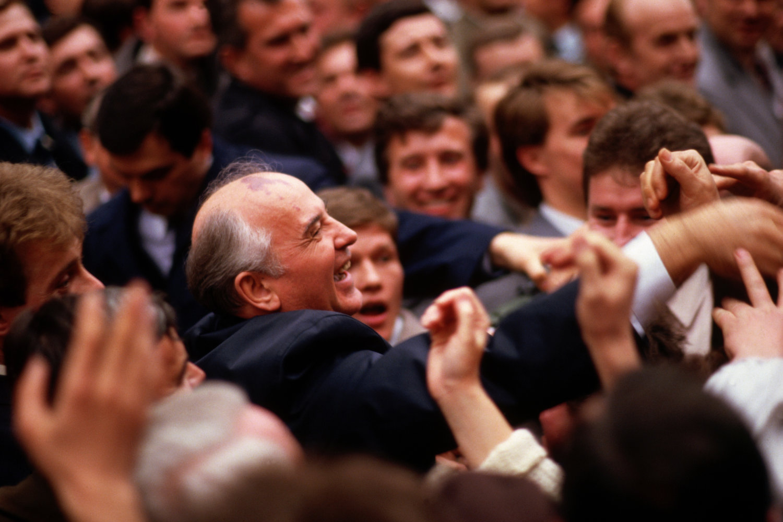"Gorbatchev. Prague, Czechoslovakia, 1987.<span class=""photo-essays-link""><span class=""separator"">・</span><a href=""/photo-essays"">Photo-essays</a></span>"