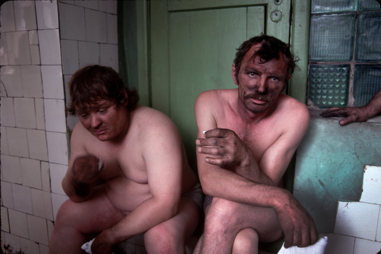 "Miners. Novokuznetsk, Russia, 1991.<span class=""photo-essays-link""><span class=""separator"">・</span><a href=""/photo-essays"">Photo-essays</a></span>"