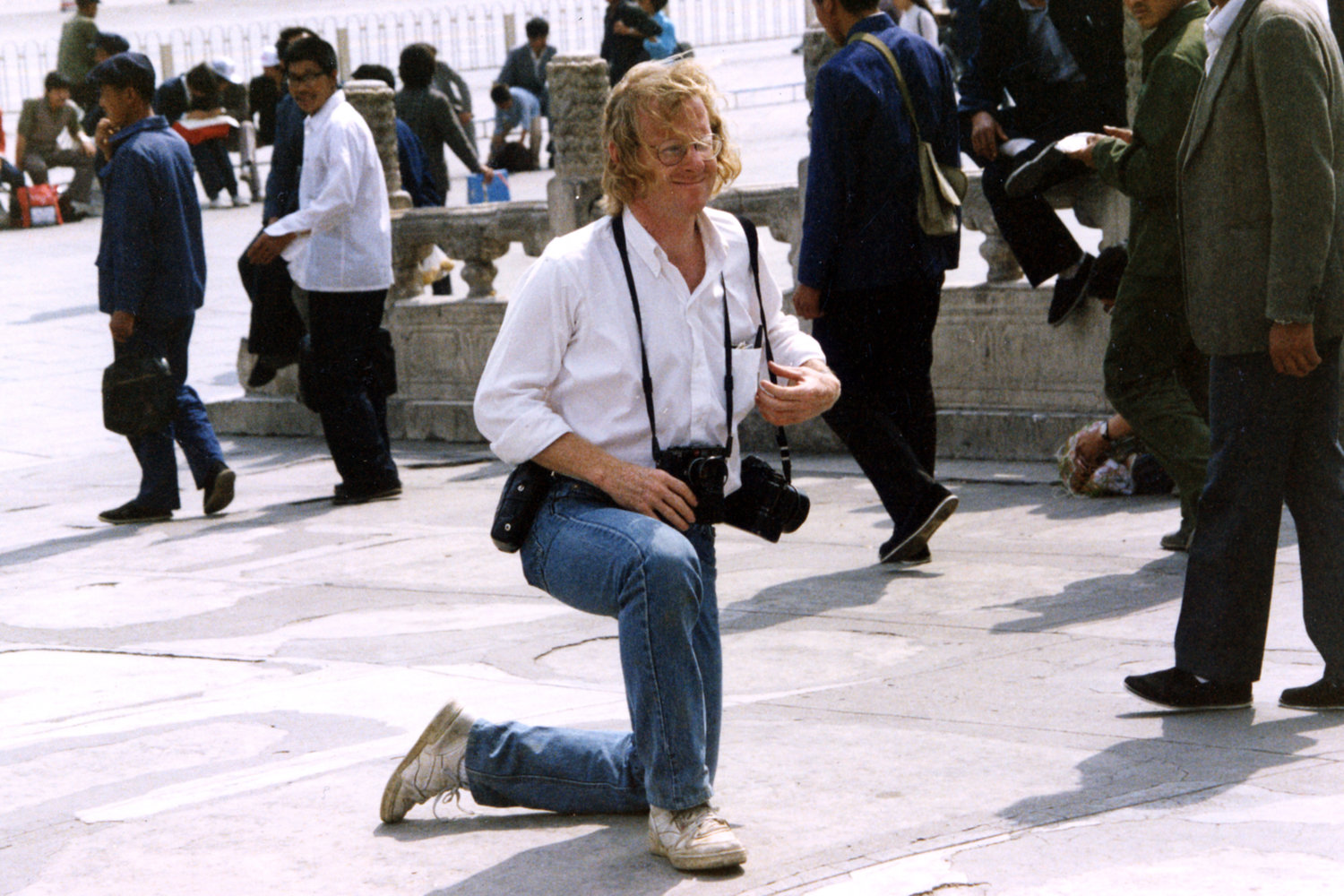 "Tiananmen Square uprising. Beijing, China, 1997.<span class=""photo-essays-link""><span class=""separator"">・</span><a href=""/photo-essays"">Photo-essays</a></span>"