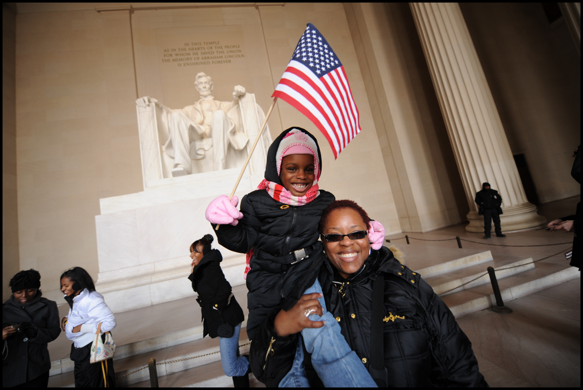 "19 Jan 2009, Washington, DC, USA --- ""Photograph by Peter Turnley. Jan.18,2009. On the eve of the inauguration of President Barack Obama as 44th President of the United States, and on MLK's Birthday"