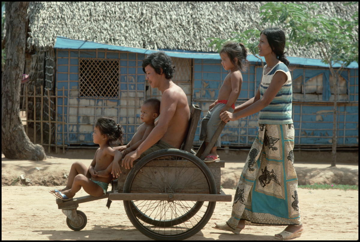 1988, Thai-Cambodian border --- Cambodian refugees.