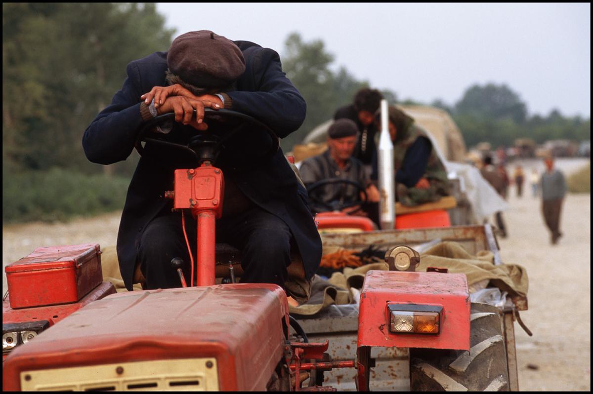 August 1995, Bijeljina, Bosnia and Herzegovina --- Serb Refugees in Bosnia