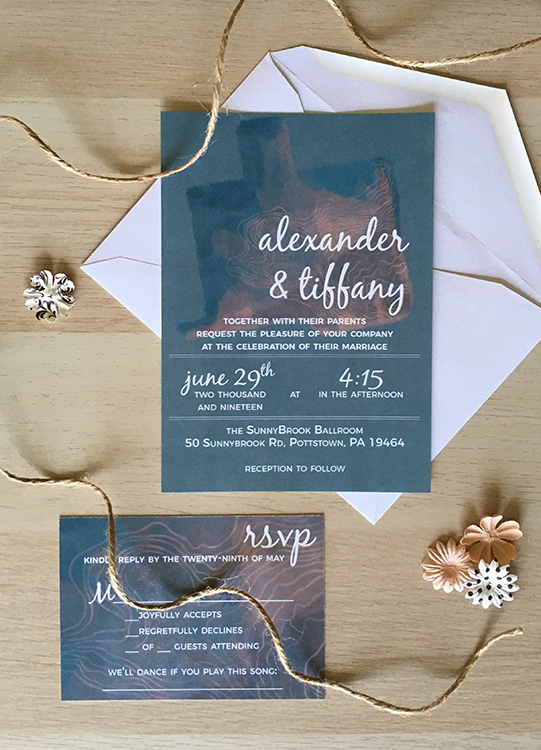 Raining Birds Studio: A & T Wedding Invitation
