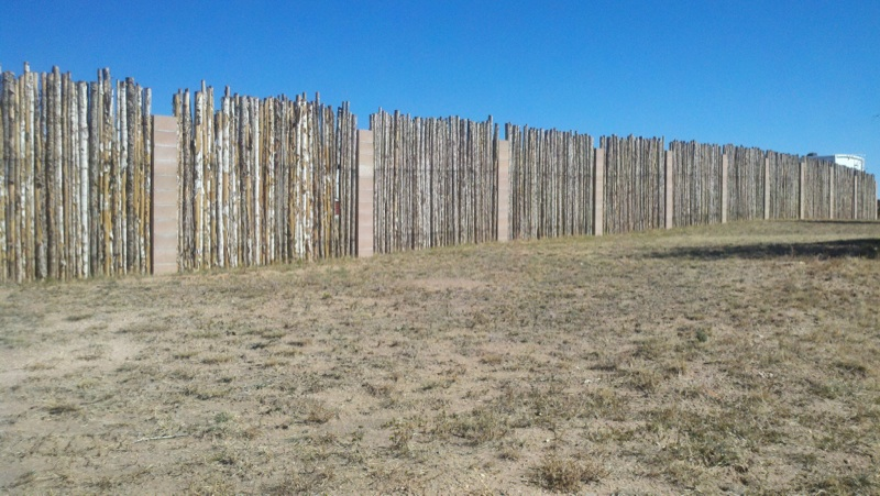 Pillars and Coyote Fencing