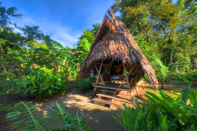 For larger groups Casa Playa Sombrero offers three thatch-roof tent platforms close by, accommodating up to ten guests in total.
