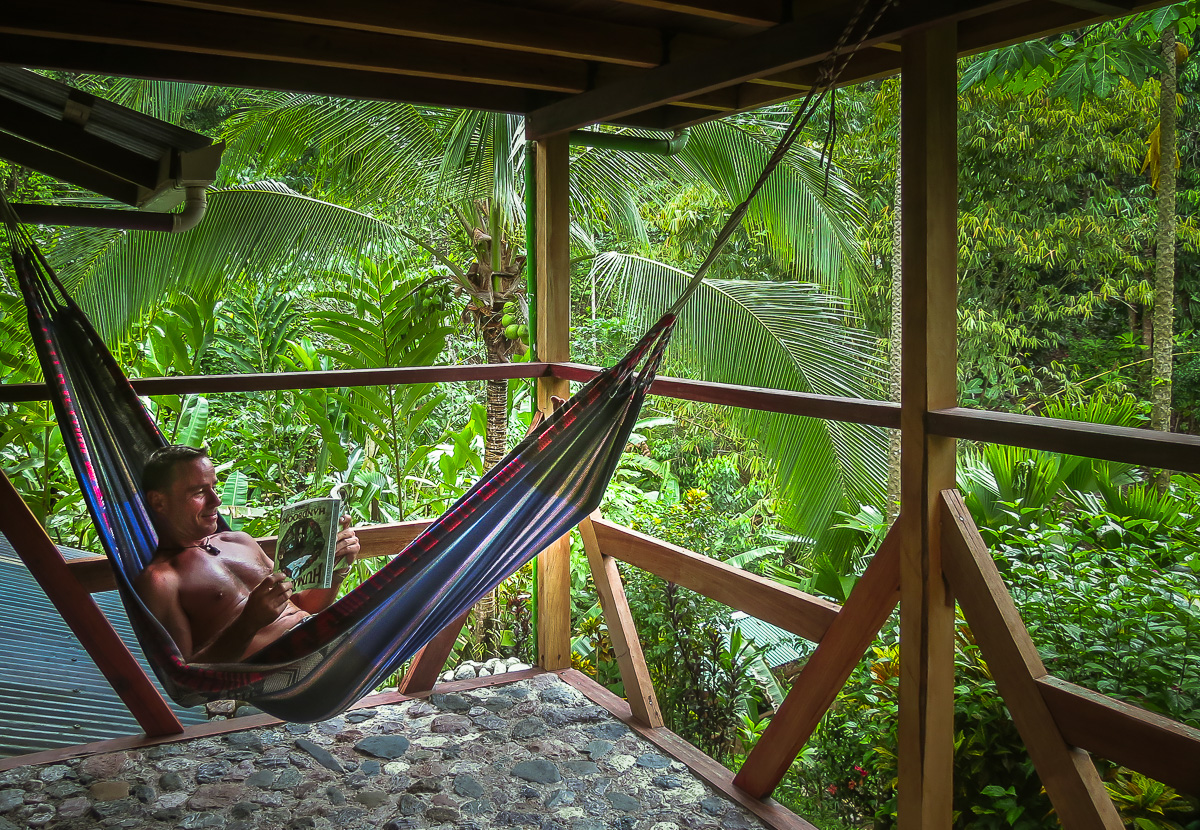 2nd level hammock reading area