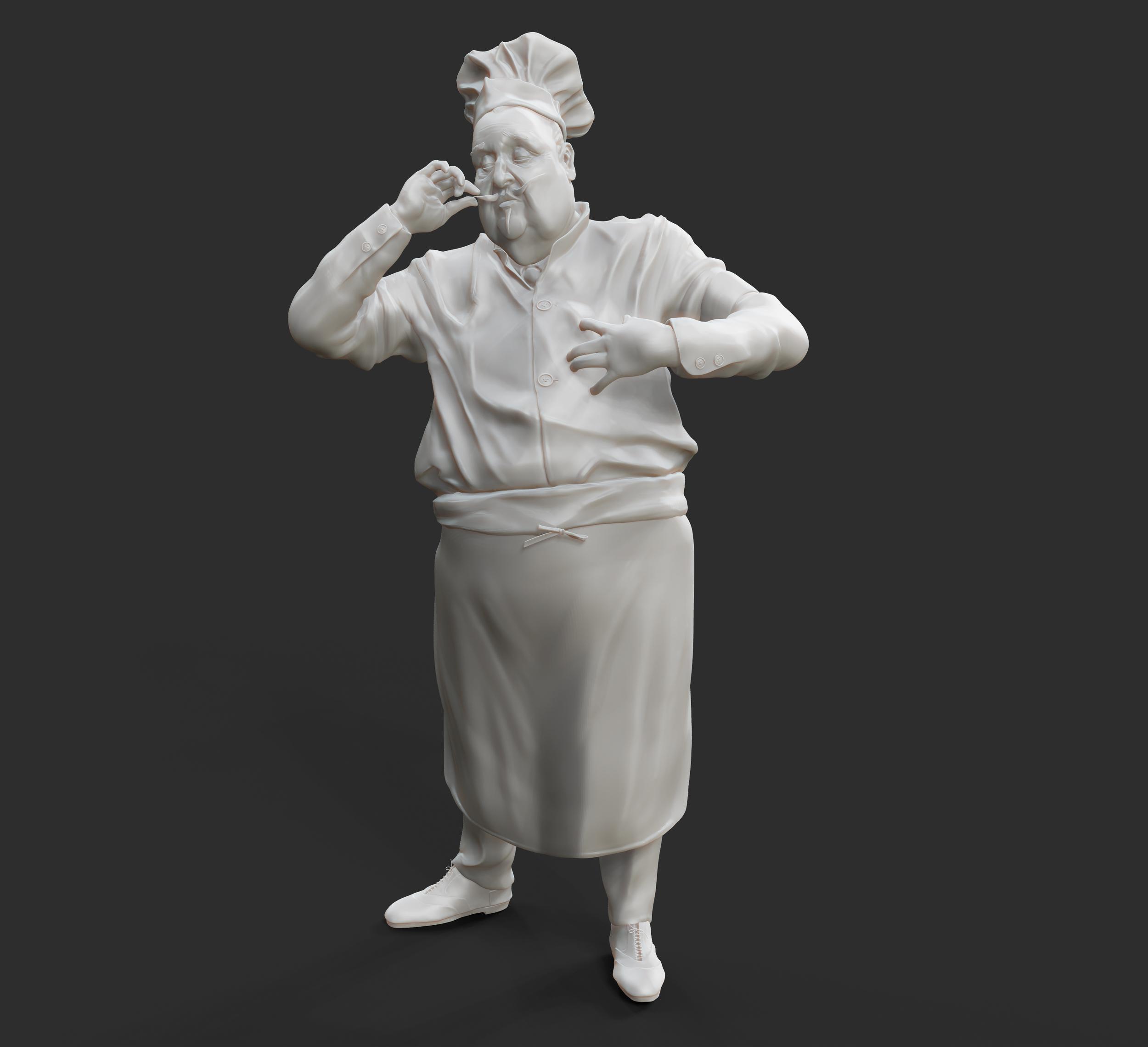 J.C Leyendecker: Chef Model