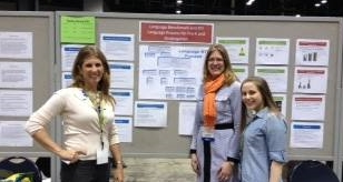 Jen Preschern, Angela Anthony, and Naomi Konikoff at the American Speech Language Hearing Association convention , 2013