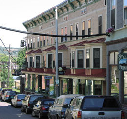 Rockingham Arts & Museum Project:  The $1.2 million restoration of the historic Exner Block at 7 Canal Street in Bellows Falls, Vermont was completed in August 2000.       http://www.ramp-vt.org/exner/