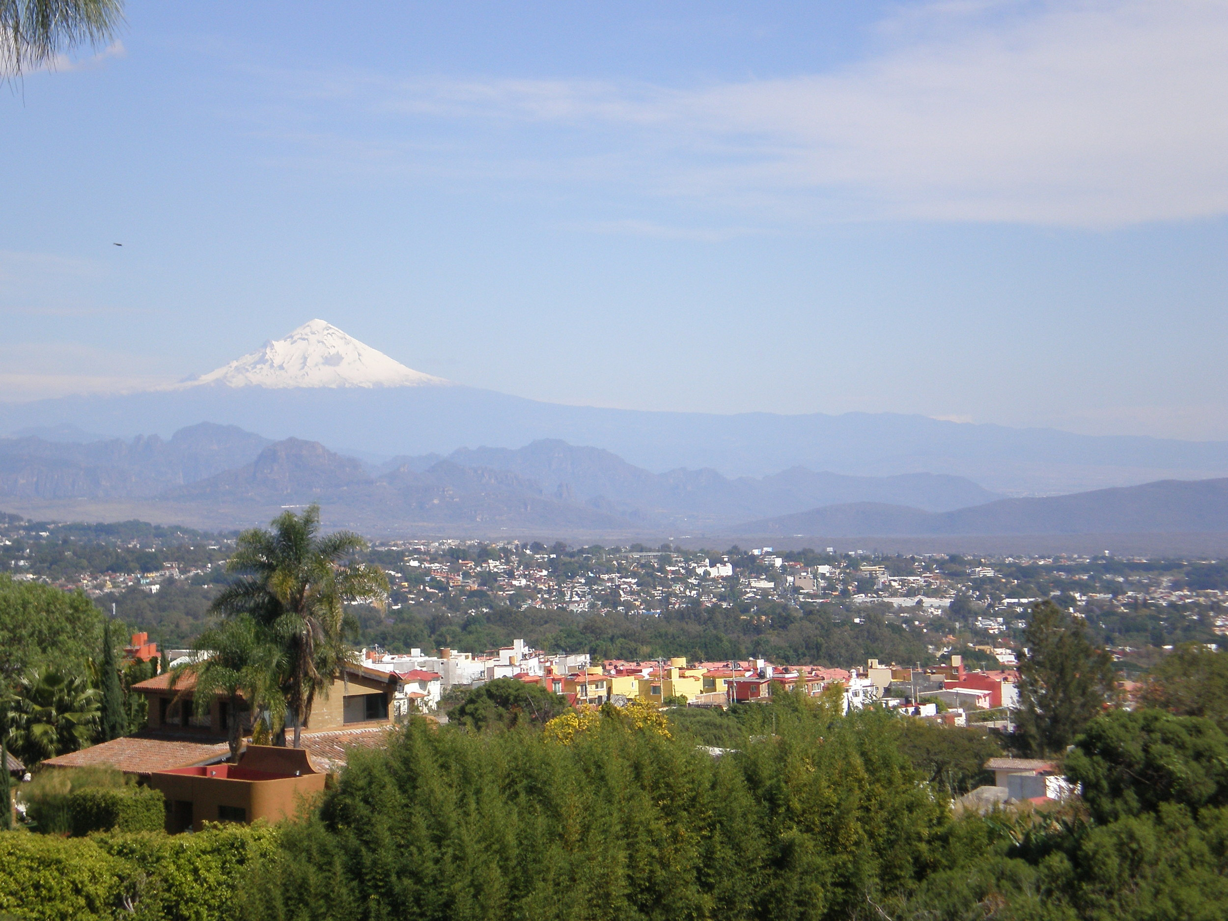 The view of Cuernavaca from the Quest Mexico base.