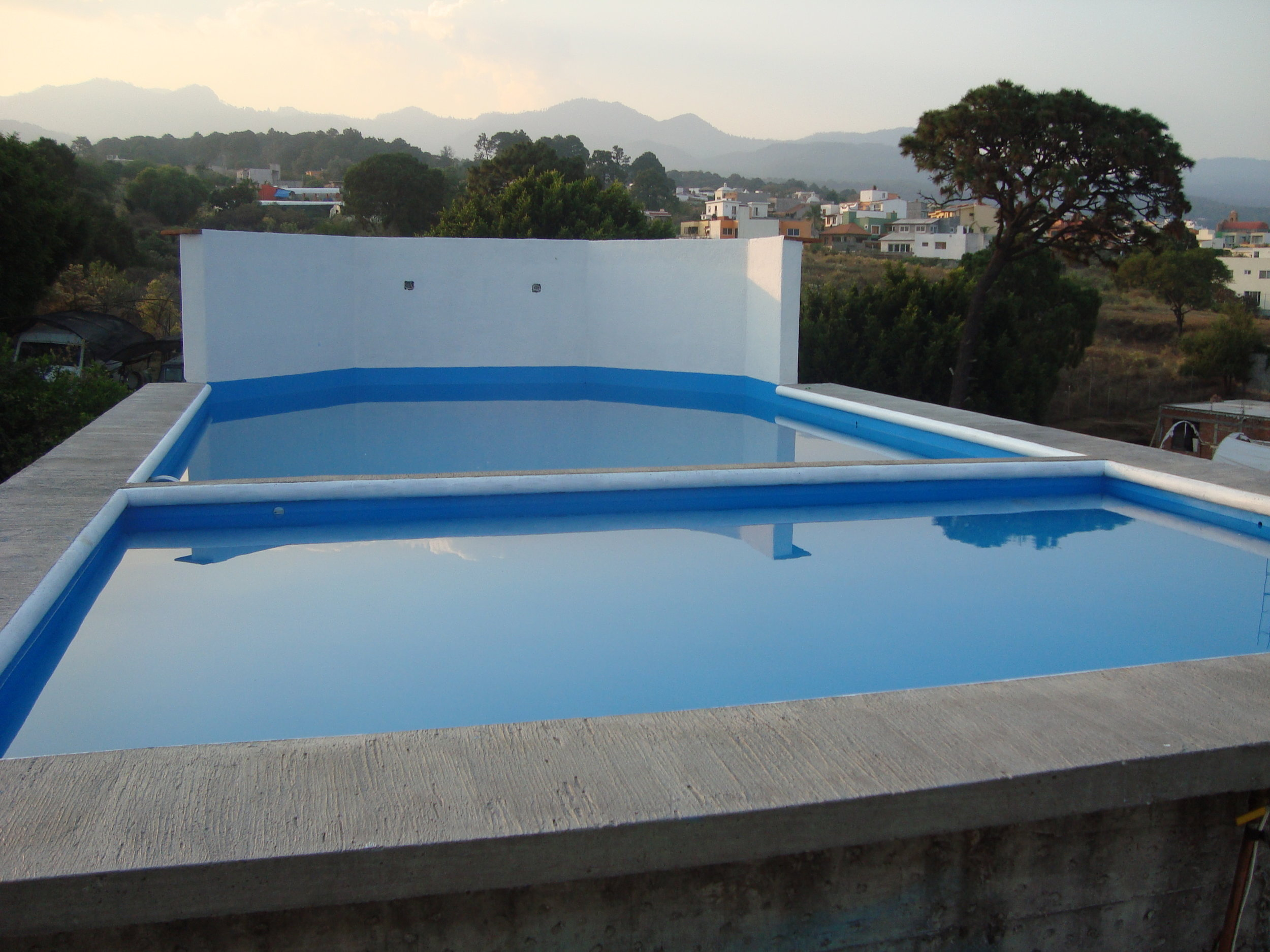 Pool on the rooftop.