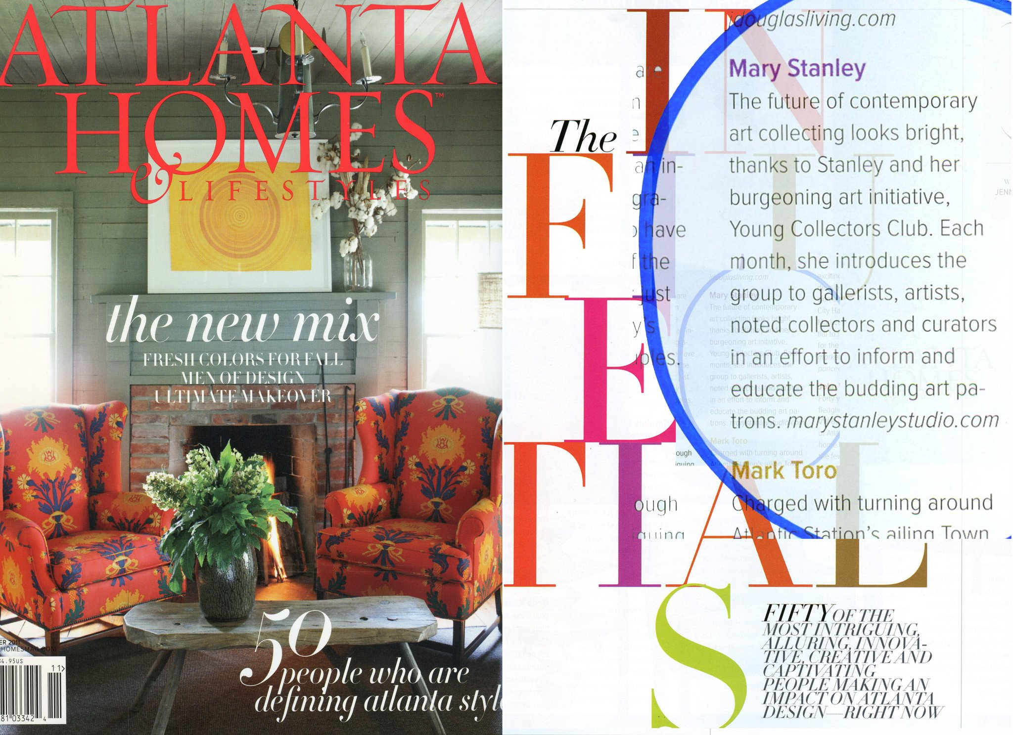 "In ATLANTA HOMES Lifestyle Magazine, ""The Influentials"" article"