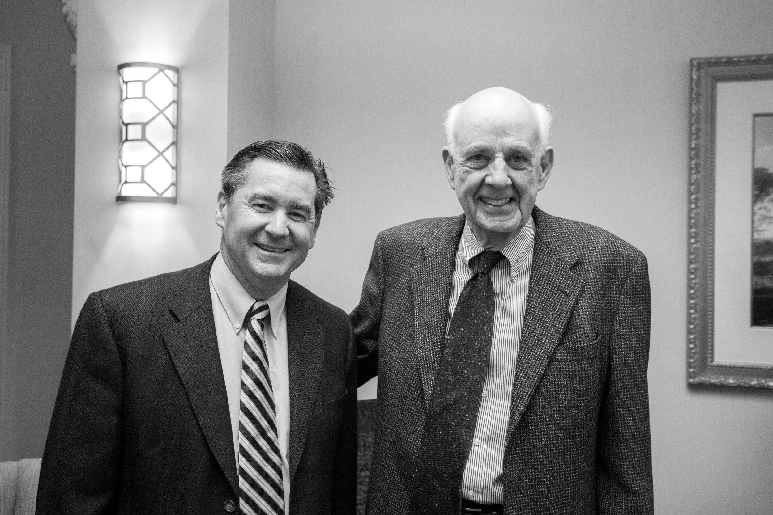 Martin Cothran and Wendell Berry at the 2017 CiRCE Institute Regional Conference in Louisville, KY