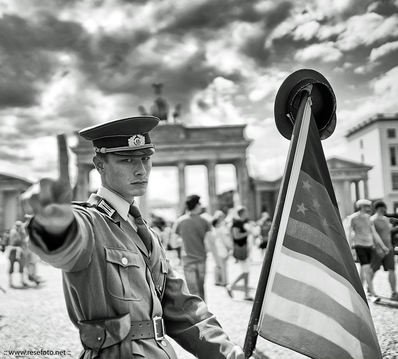 Berlin, retro border guard.