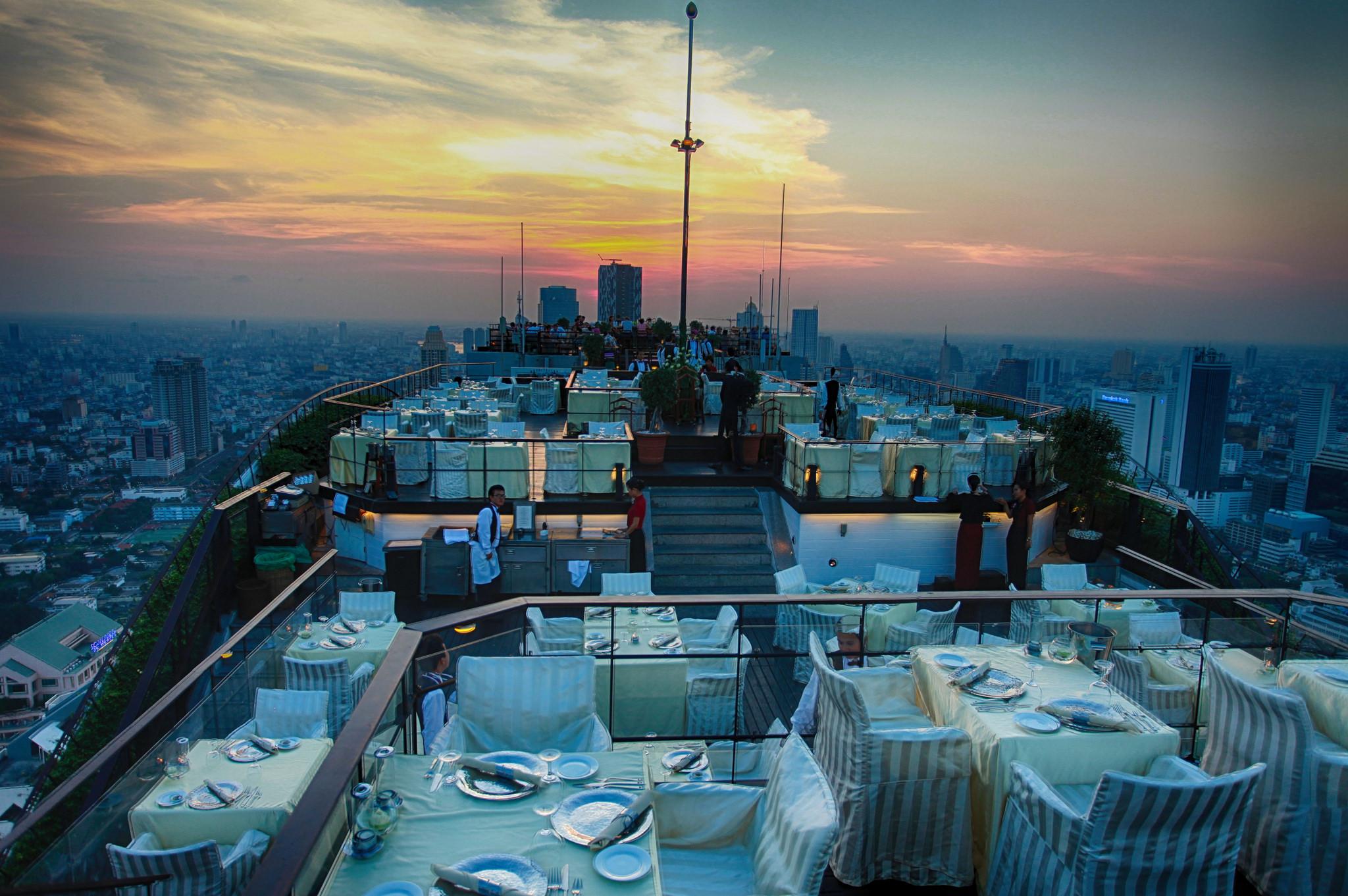 Vertigo bar, Bangkok, Thailand.