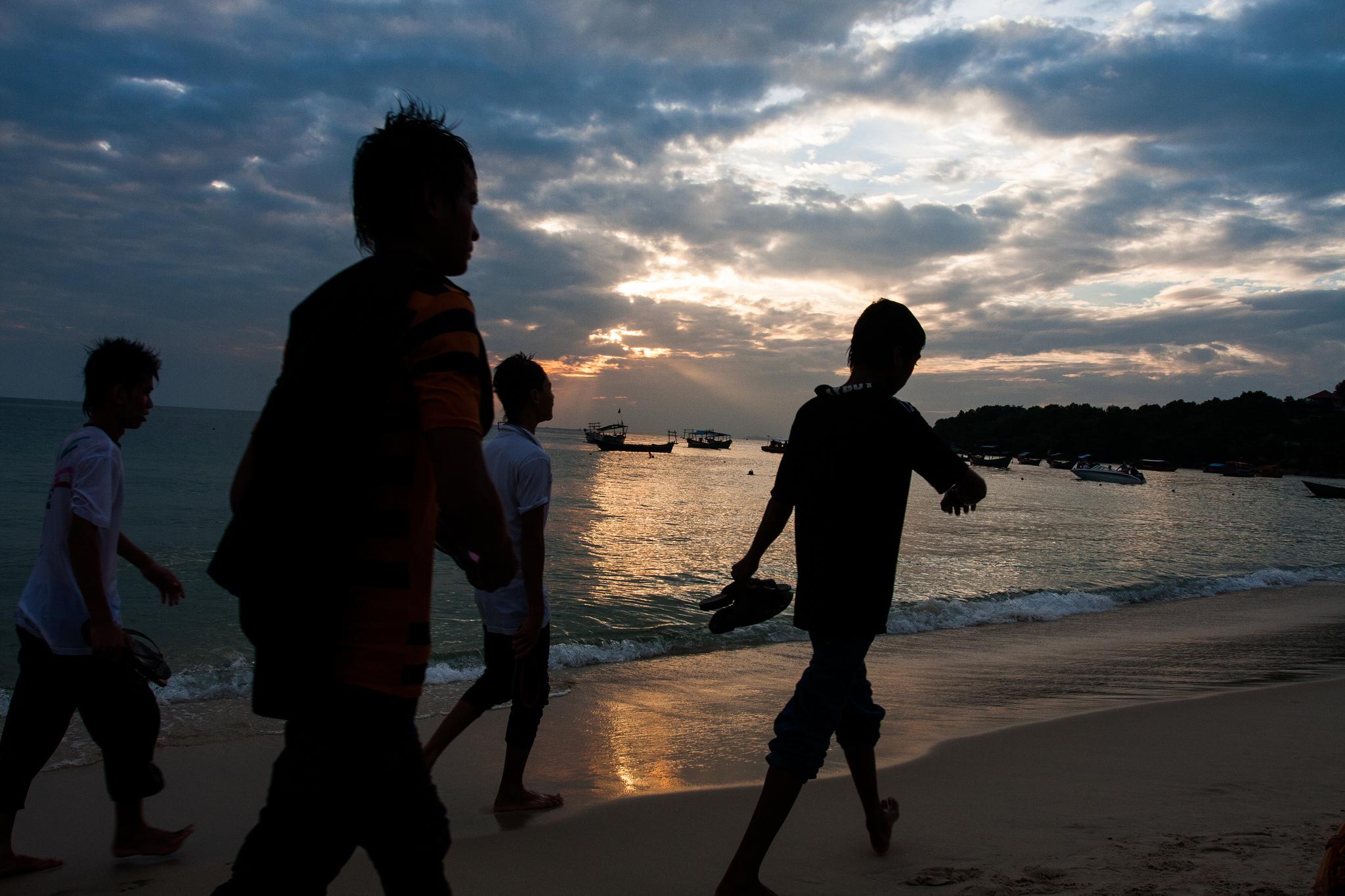 Sihanoukville sunset.