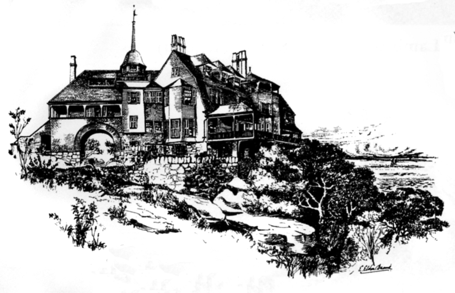 """""""The work of Stephen Roberts Holt,a devoted and distinguished architect in Manchester-by-the-Sea, is woven inextricably into the fabric of the great vacation houses that were built in and around Manchester during the late nineteenth and early twentieth centuries. Most of them were built by the local firm of Roberts and Hoare, which was founded by Holt's great grandfather.""""  - Vincent J. Scully, Yale University"""