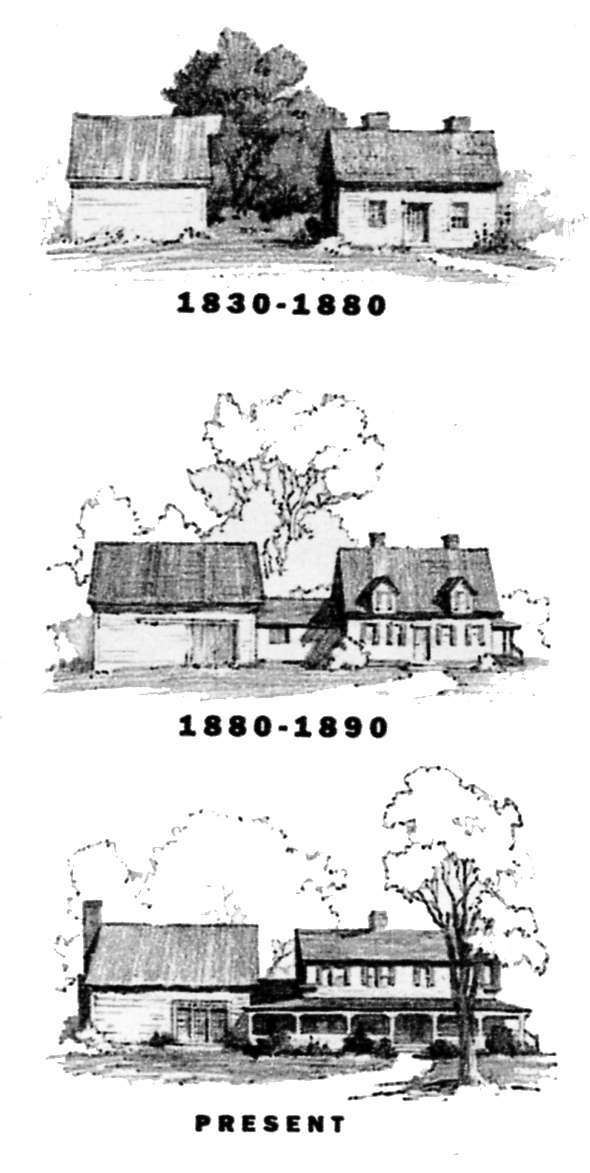 Original sketches of the Berry House