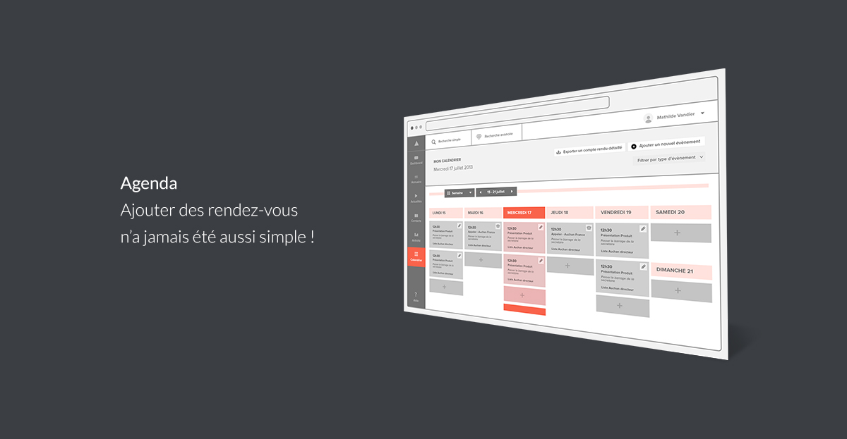 Calendrier Wireframes