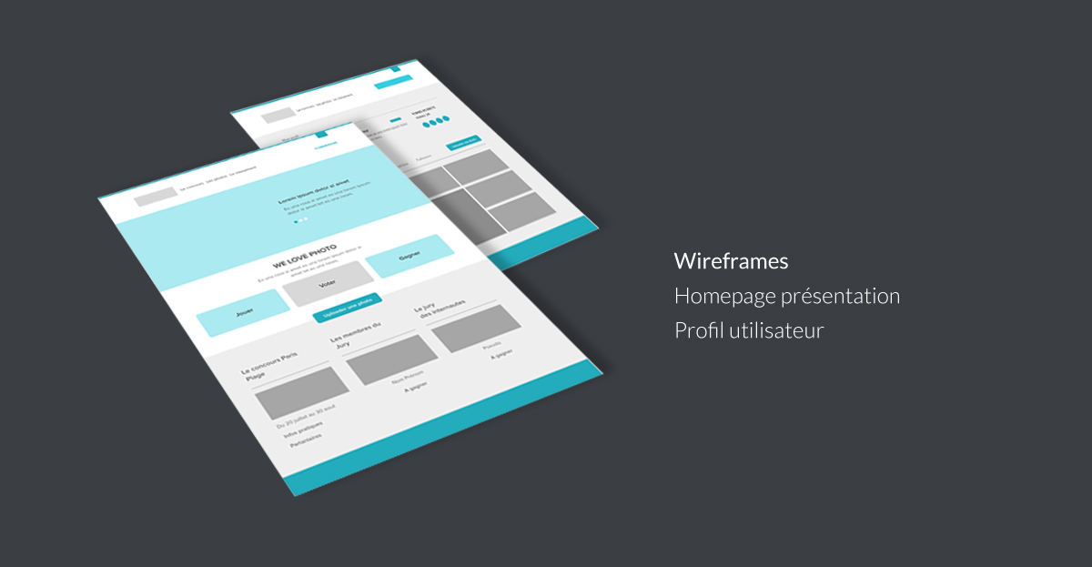 Wireframes Homepage & Profil