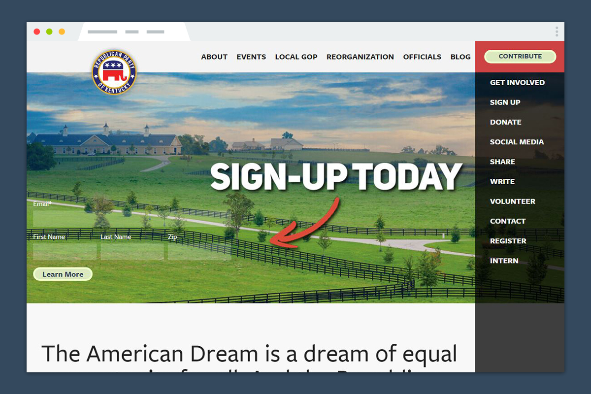 Republican Party of Kentucky Responsive Redesign