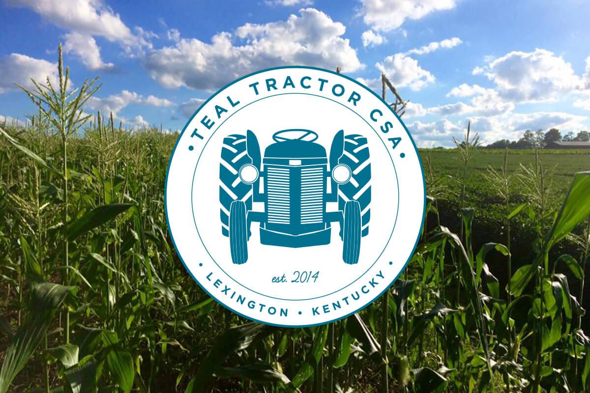 Teal Tractor CSA Logo