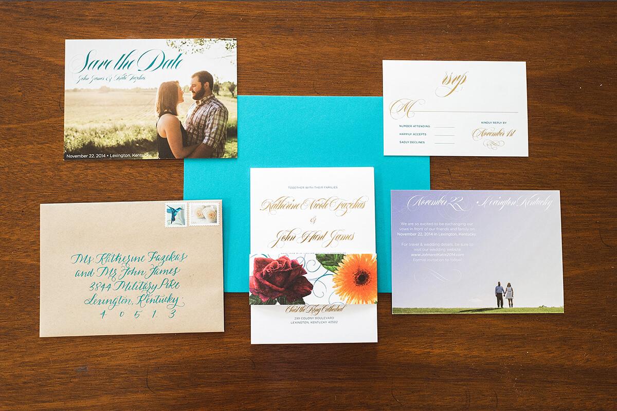 Fazekas-James Wedding Invitation Suite