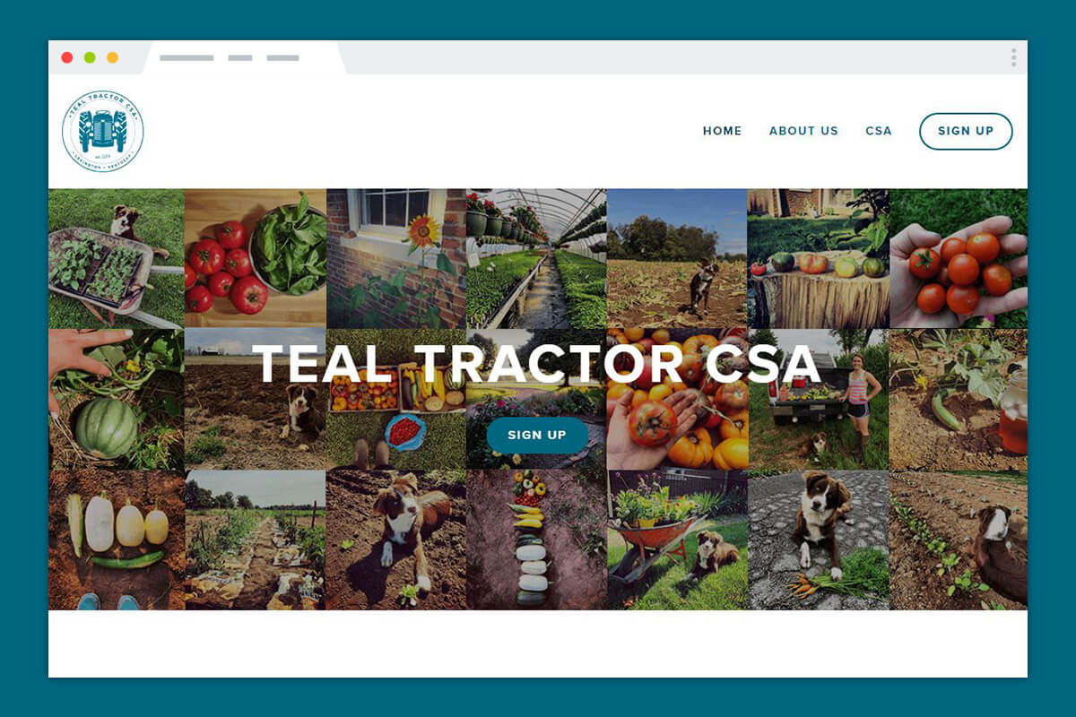 Teal Tractor CSA Website Development
