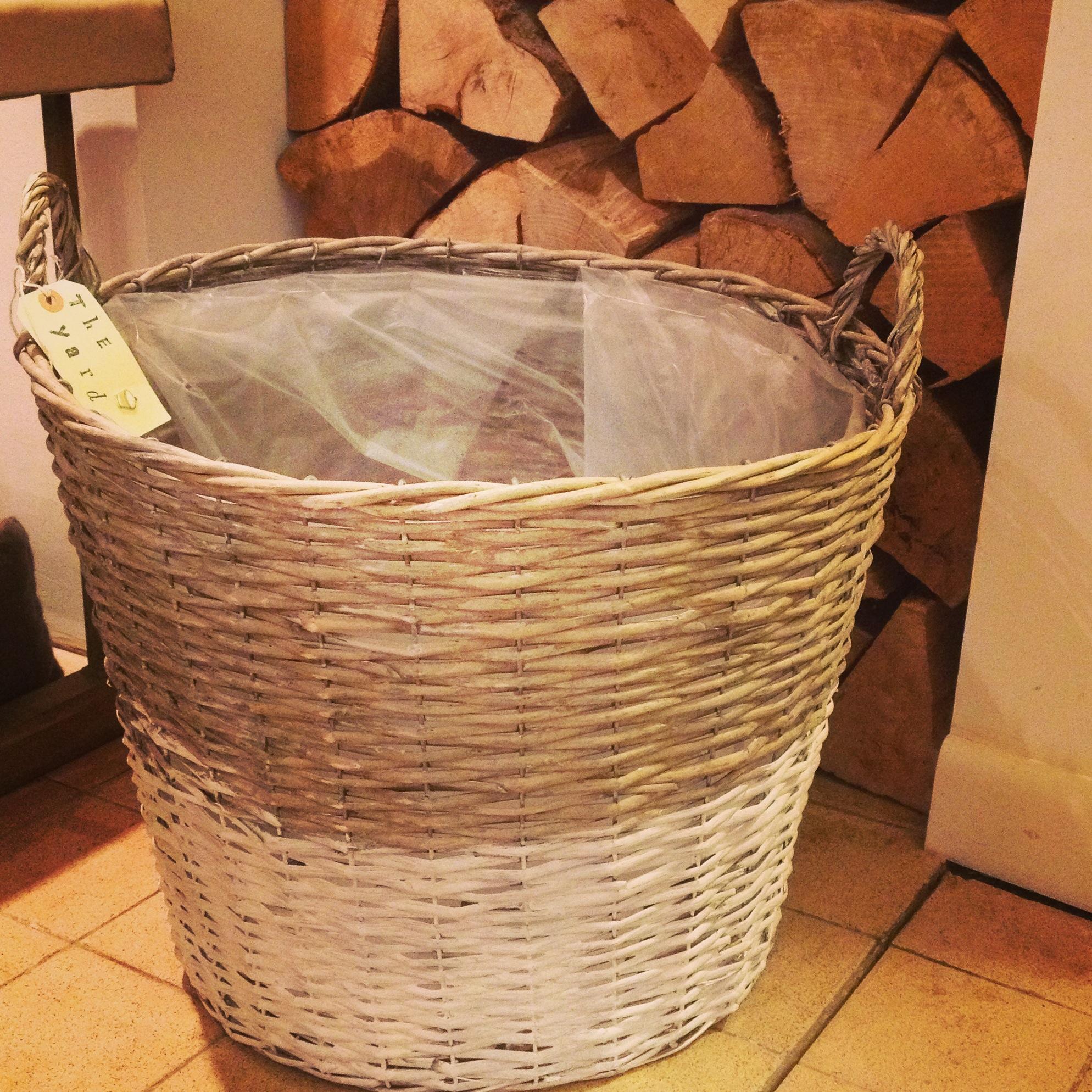 Large dip dyed log basket