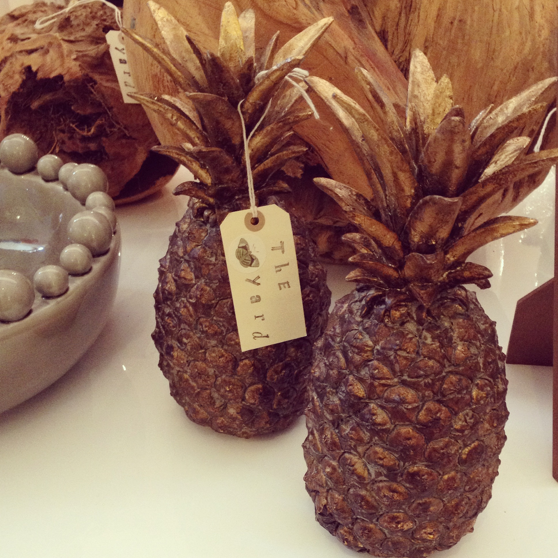 A lovely pair of Pineapples (sold separately)