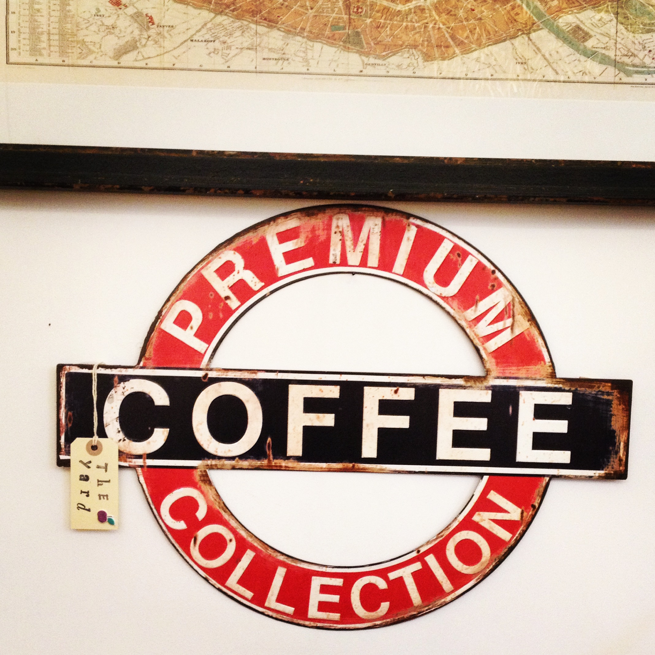 Large retro coffee sign