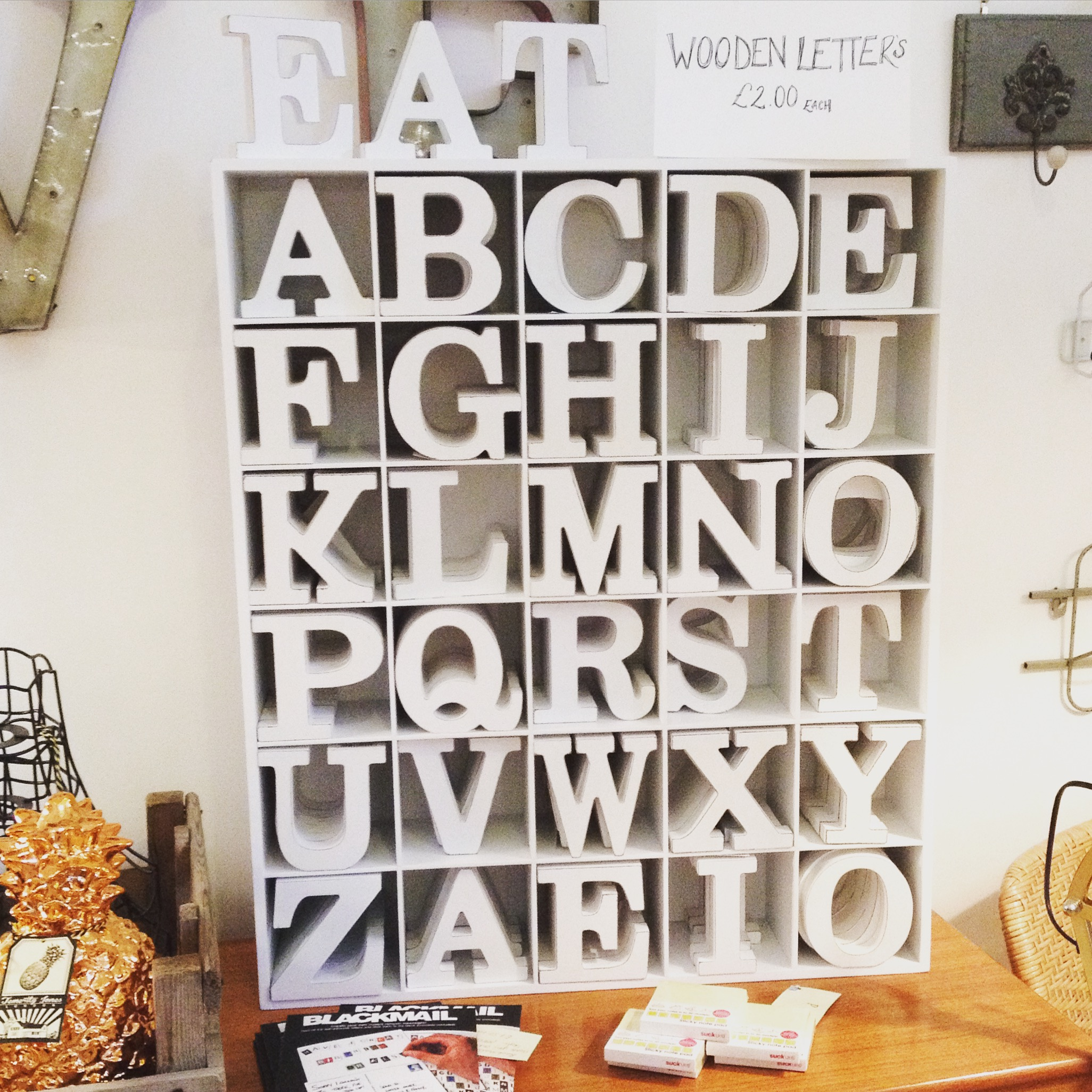Wooden letters only £2 each leave them white or get creative paint, fabric sequins the possibilities are endless....