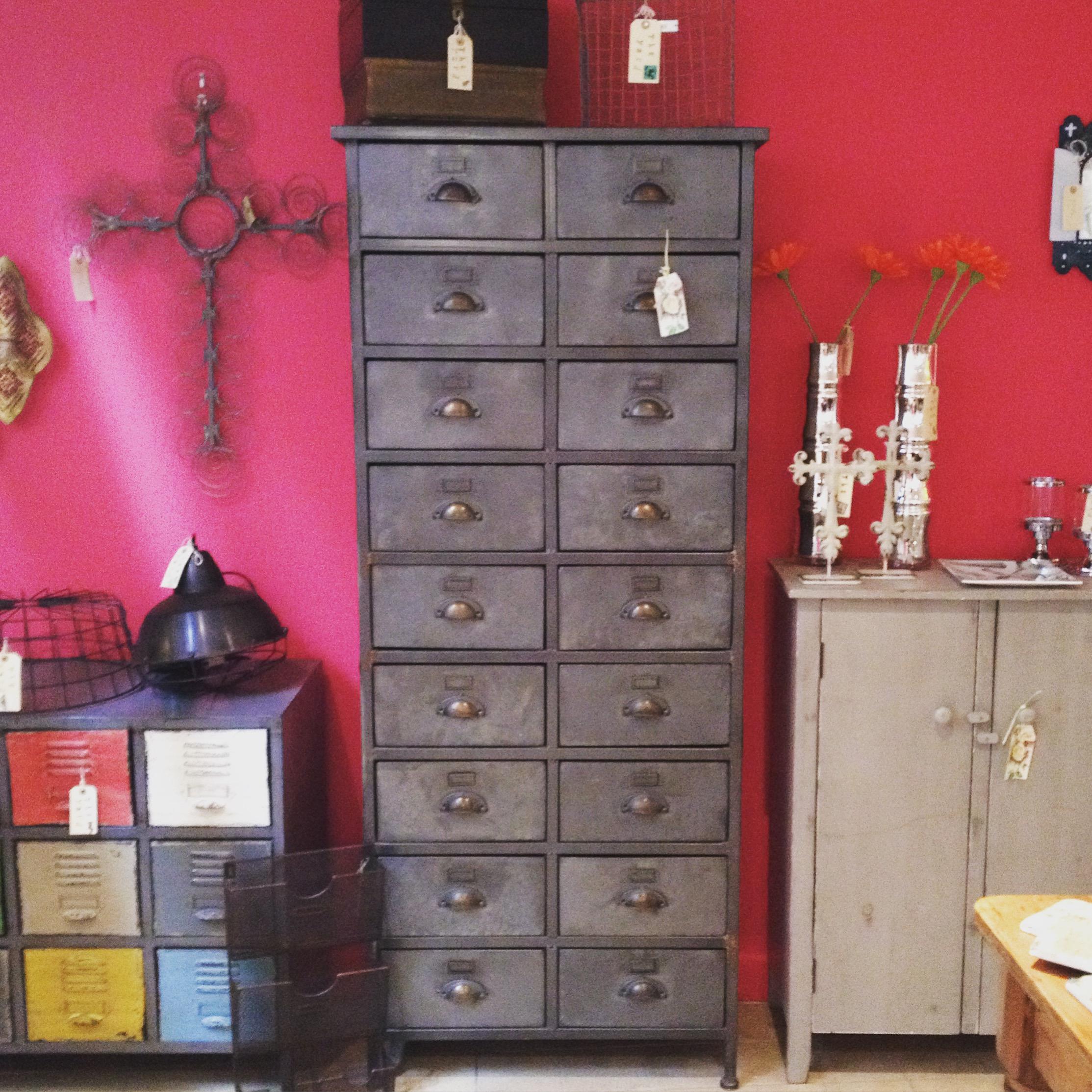 Tall metal drawers