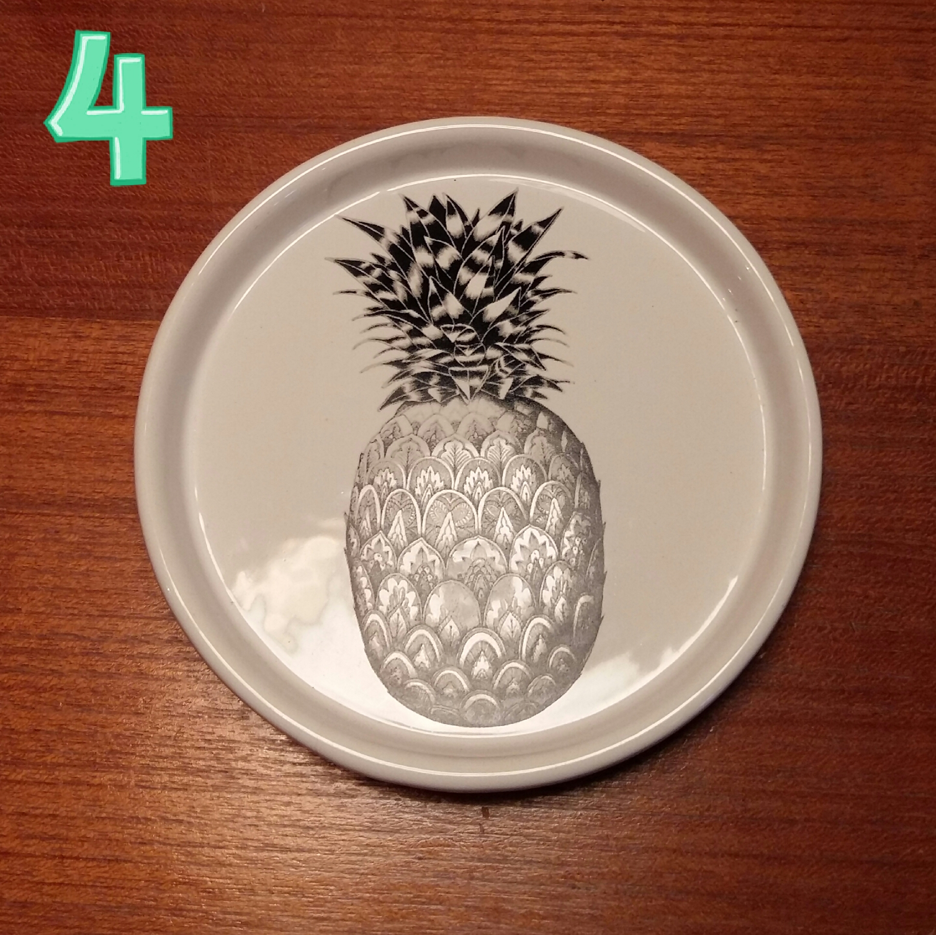 Pineapple printed dish £4.50