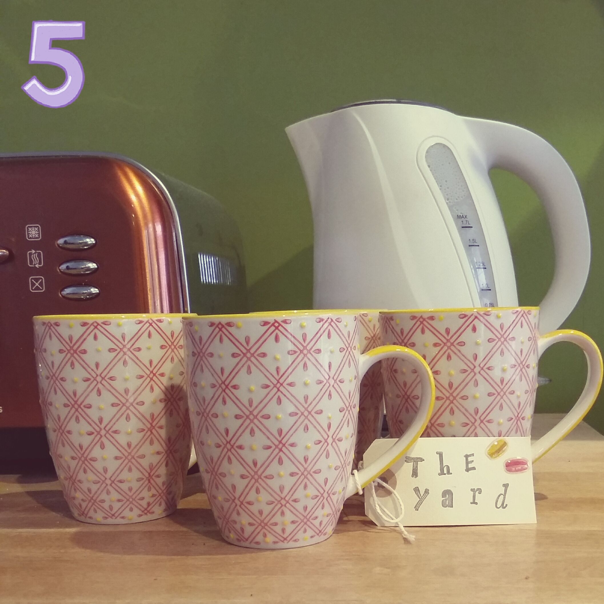 Yellow and red mugs £5.00 each