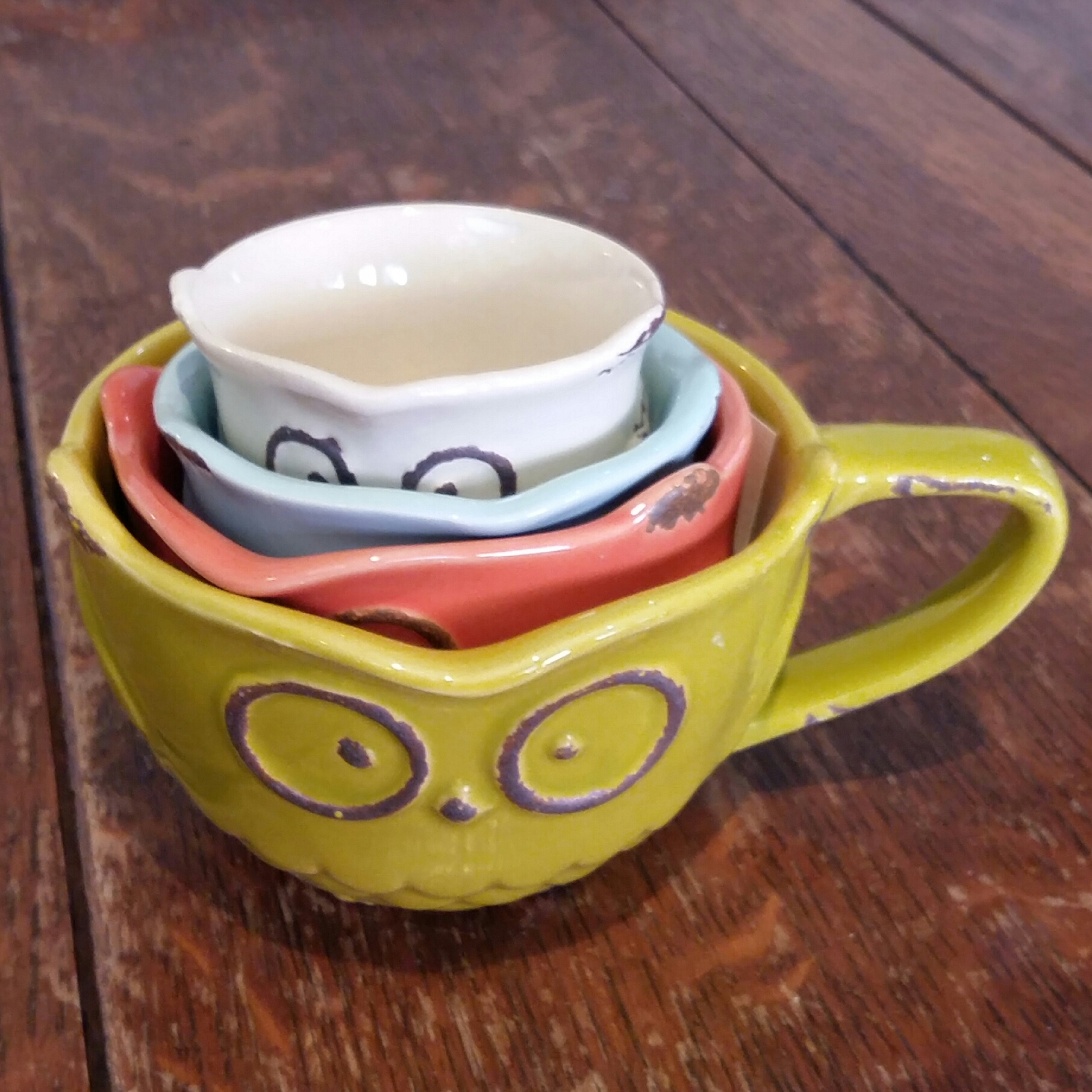 Back in stock owl measuring cups