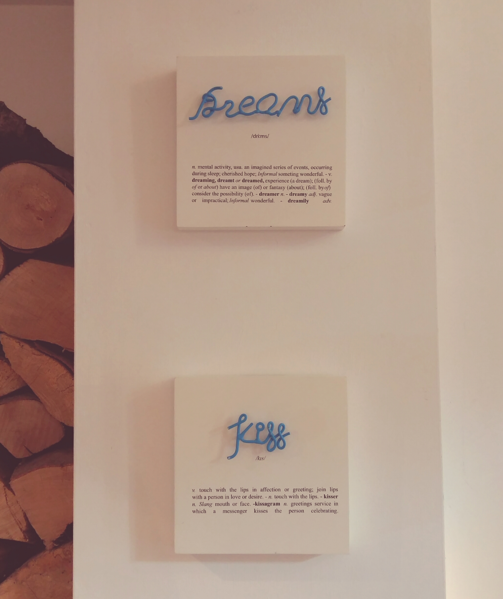 Dreams and Kiss small canvases
