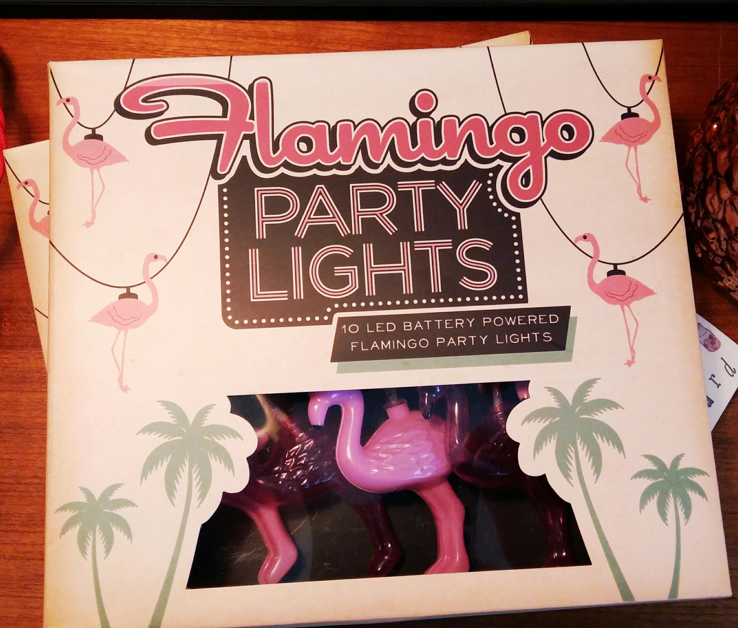 Flamingo string lights battery powered