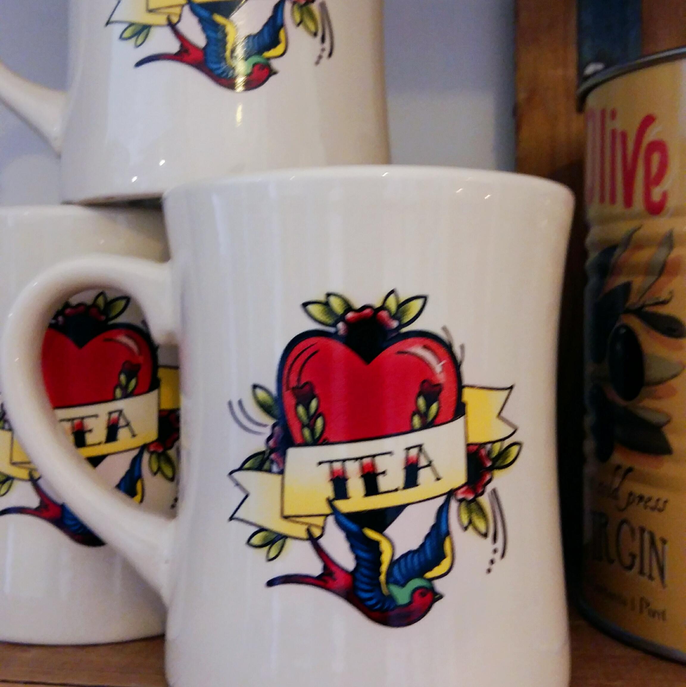 Coffee or Tea tattoo print mugs only £3 each!
