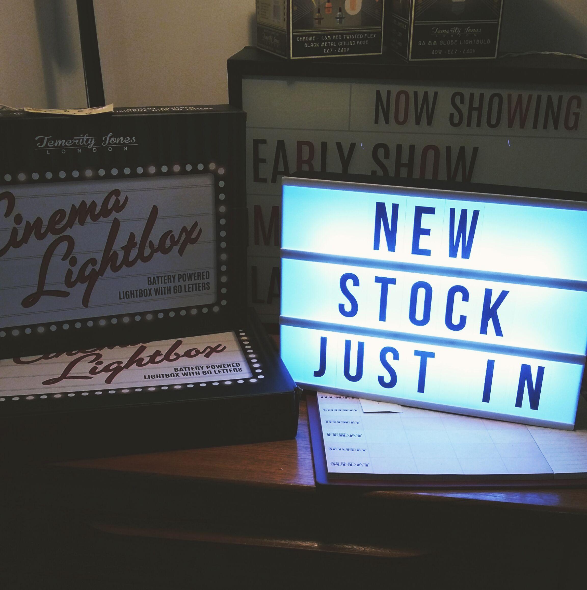 Cinema light box £20.00
