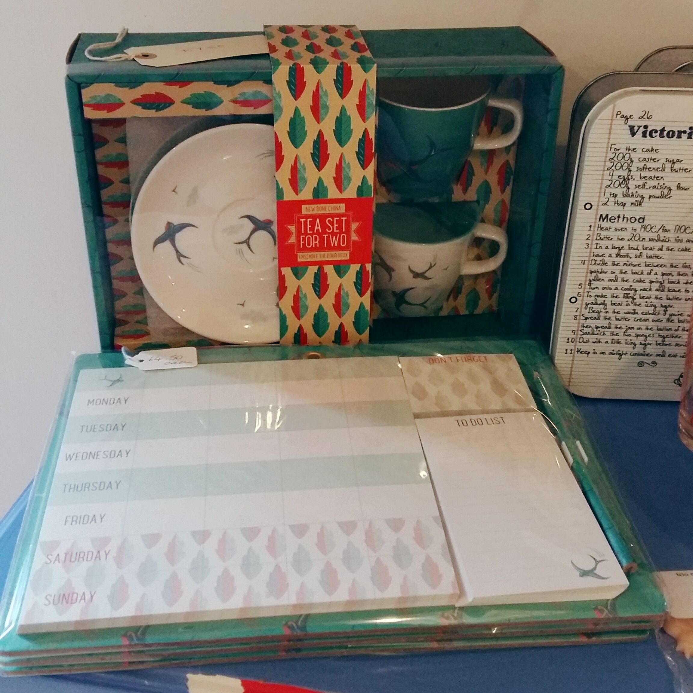 Back in stock cup and saucer set £7.50 and magnetic organiser £4.50