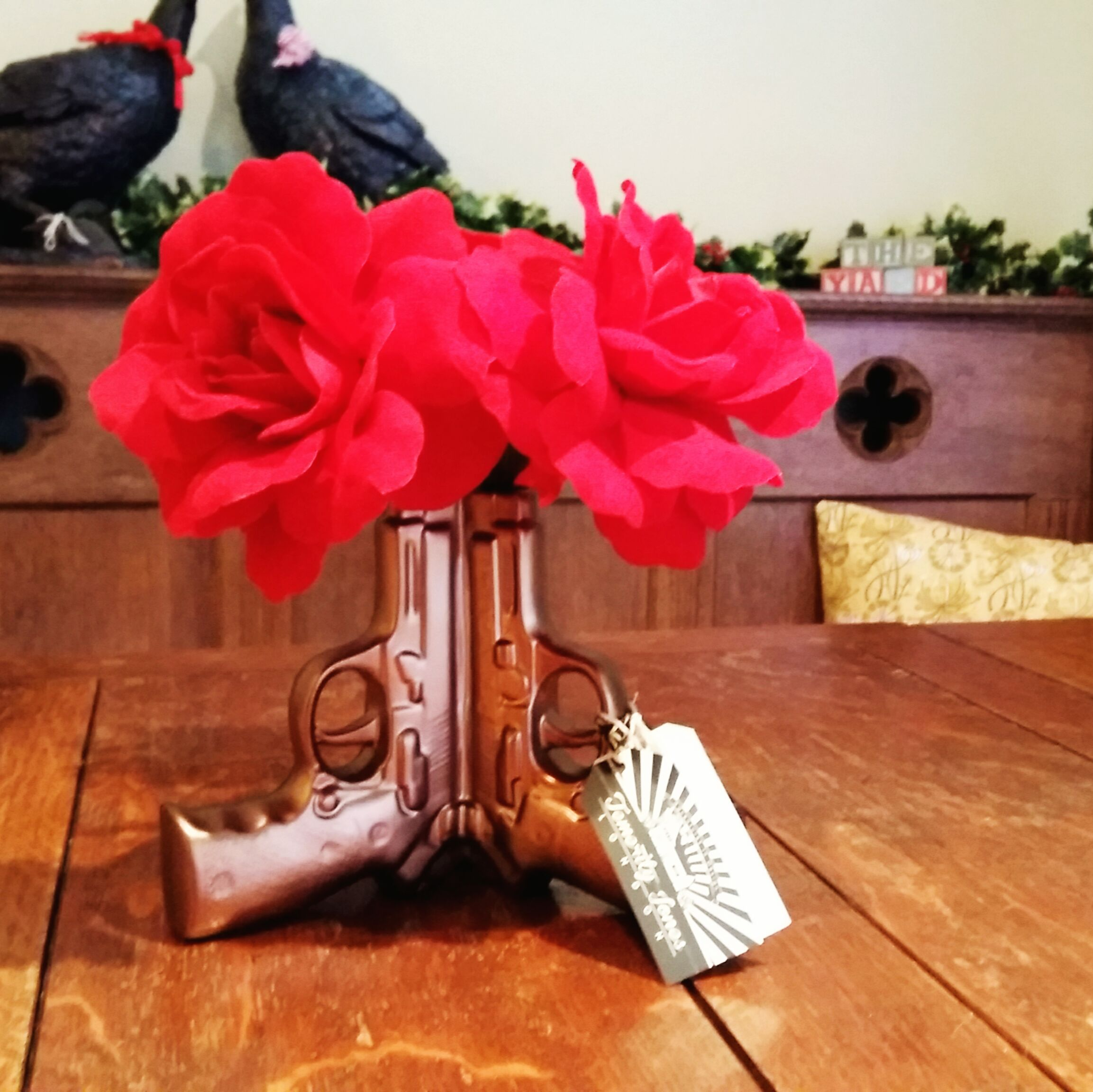 Gun vase back in stock (flowers not included)