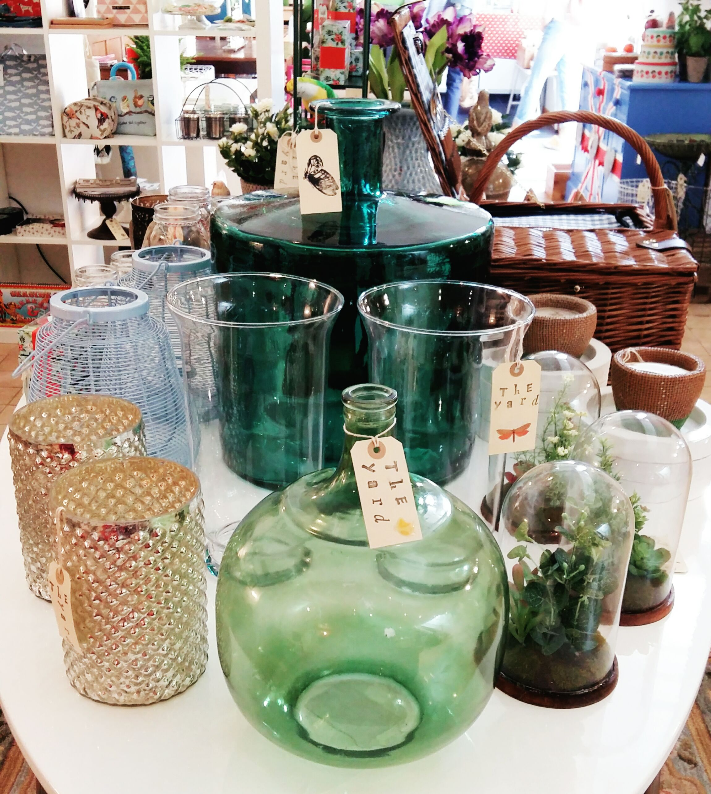 Lots of glassware in all shapes and sizes