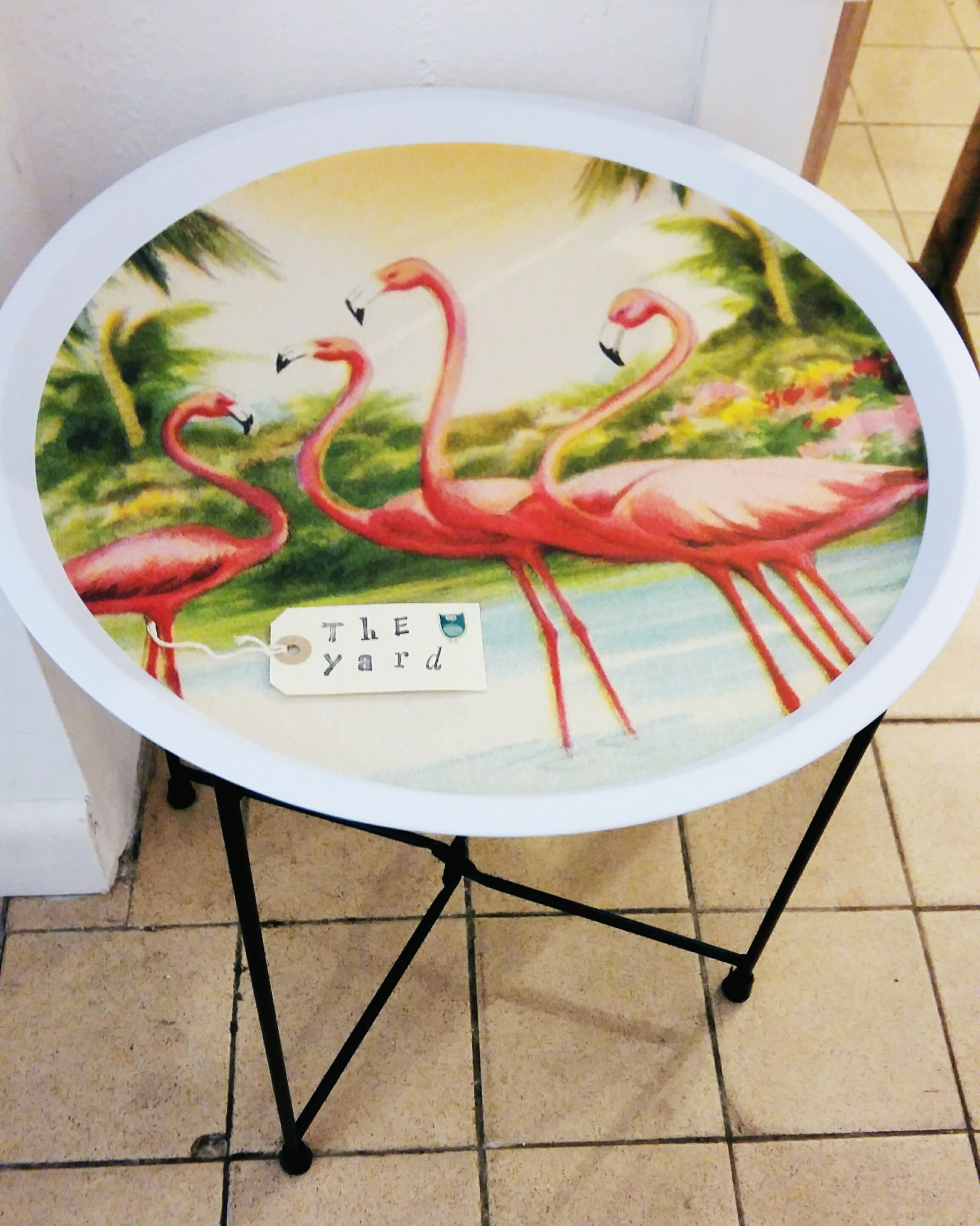 Back in stock flamingo tray table!