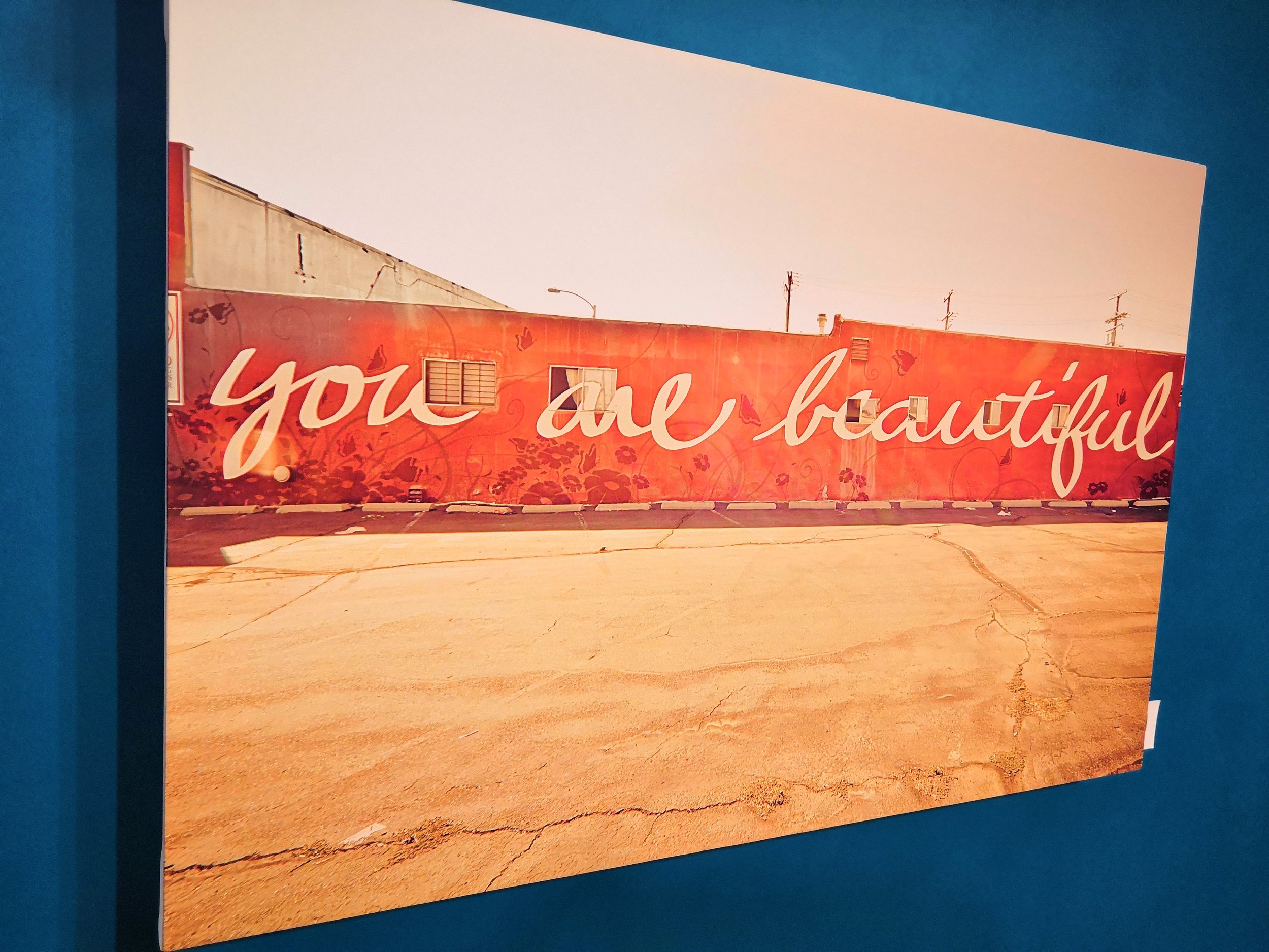 'you are beautiful' art canvas