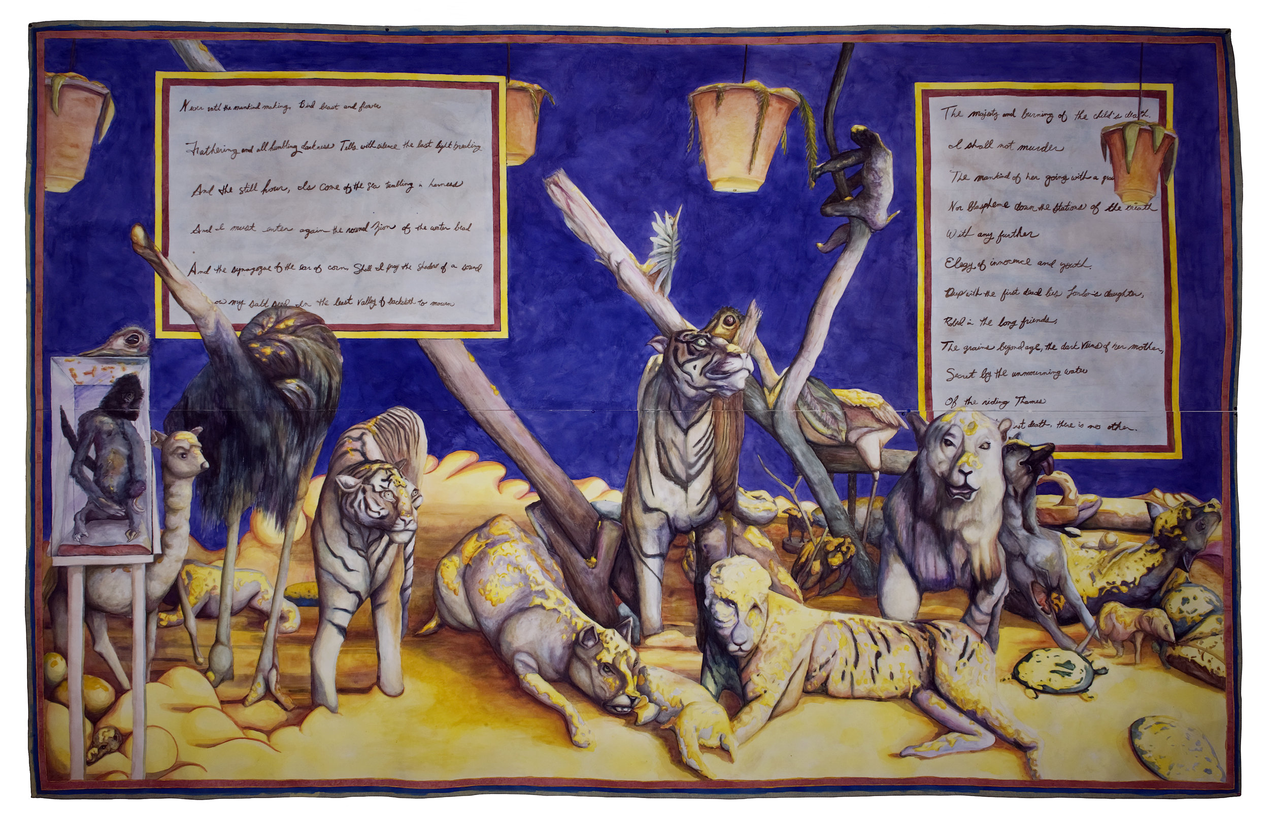 Dominion: After the First Death There is No Other, 80 x 130 inches, (215 × 330cm), watercolor on paper, 2011